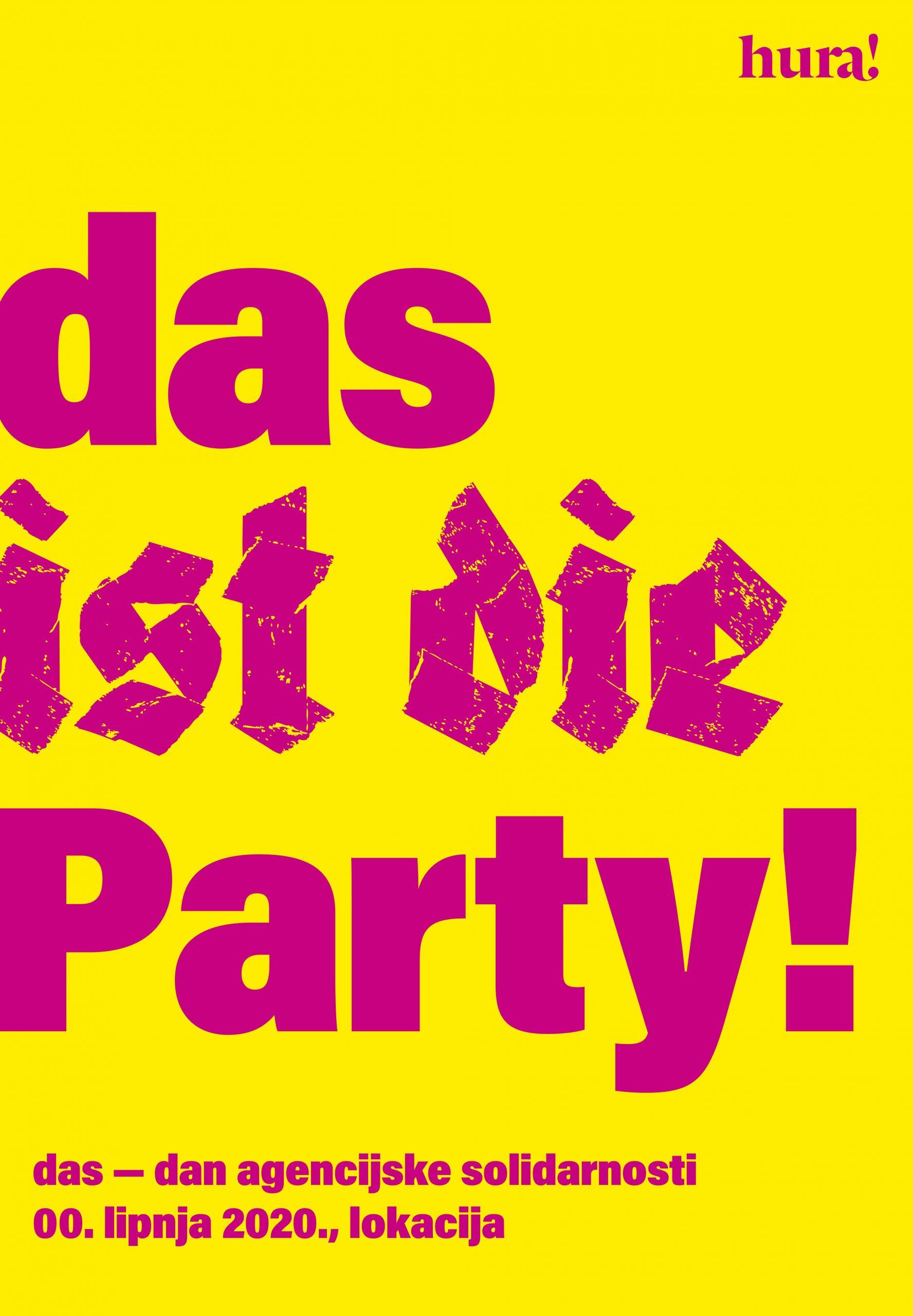 DAS IST DIE PARTY Agency: BBDO Zagreb Creative Director: Martina Pavić Designer: Maja Perica Copywriter: Maja Perica & Martina Pavić
