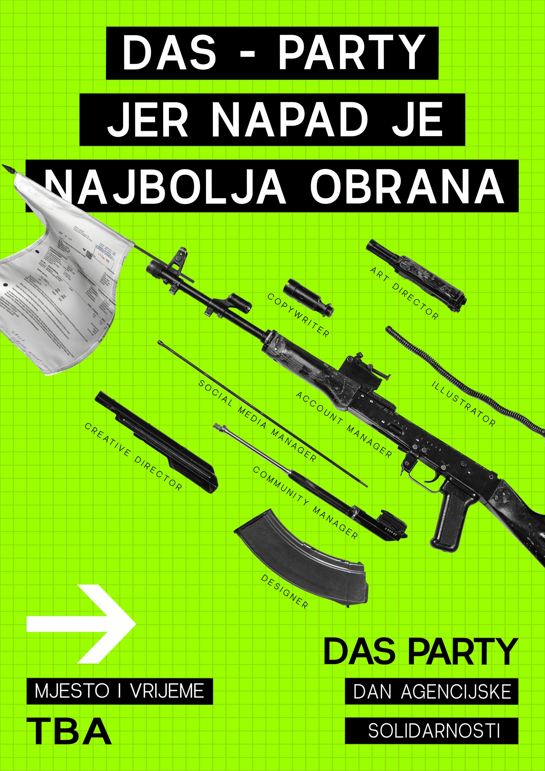 PARTY NAPAD Agency: rinzol Creative Director: Sandi Hadžić Designer: Jan Milinović Copywriter: Leona Marčić